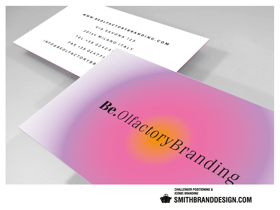 SmithBrandDesign.com Be Olfactory Branding Business Card