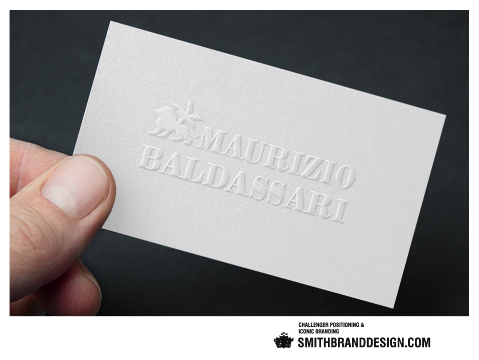 SmithBrandDesign.com Business Card Embossed