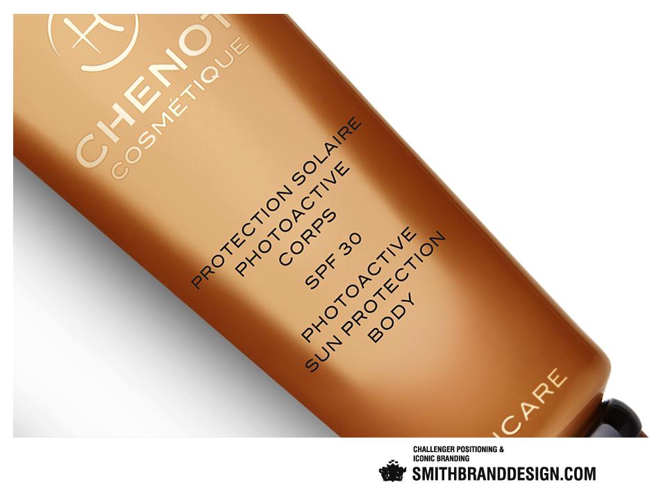 SmithBrandDesign.com Chenot Suncare Close Up