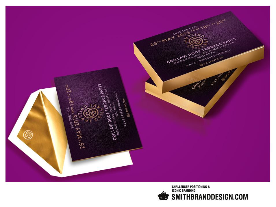 SmithBrandDesign.com Crillavi Invite Gold Edged