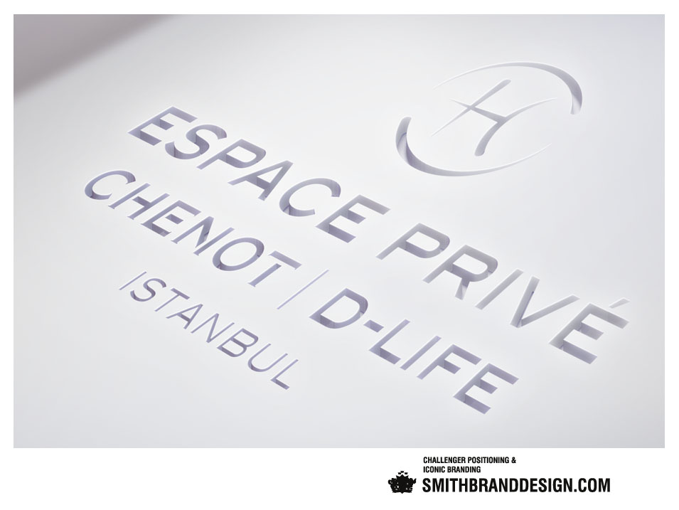 SmithBrandDesign.com Esave Privé Chenot D-Life Cut Out Brand