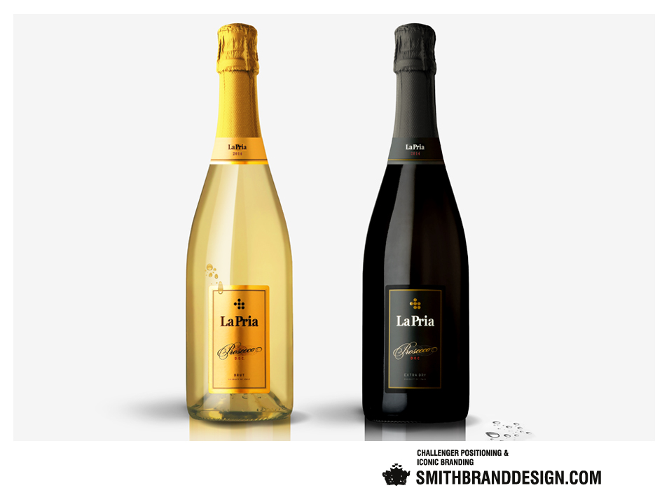 SmithBrandDesign.com La Pria Bottles
