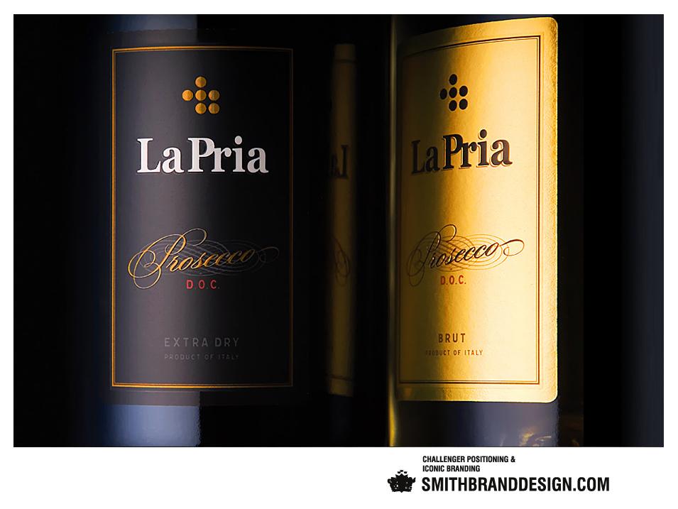 SmithBrandDesign.com La Pria Label Close Up