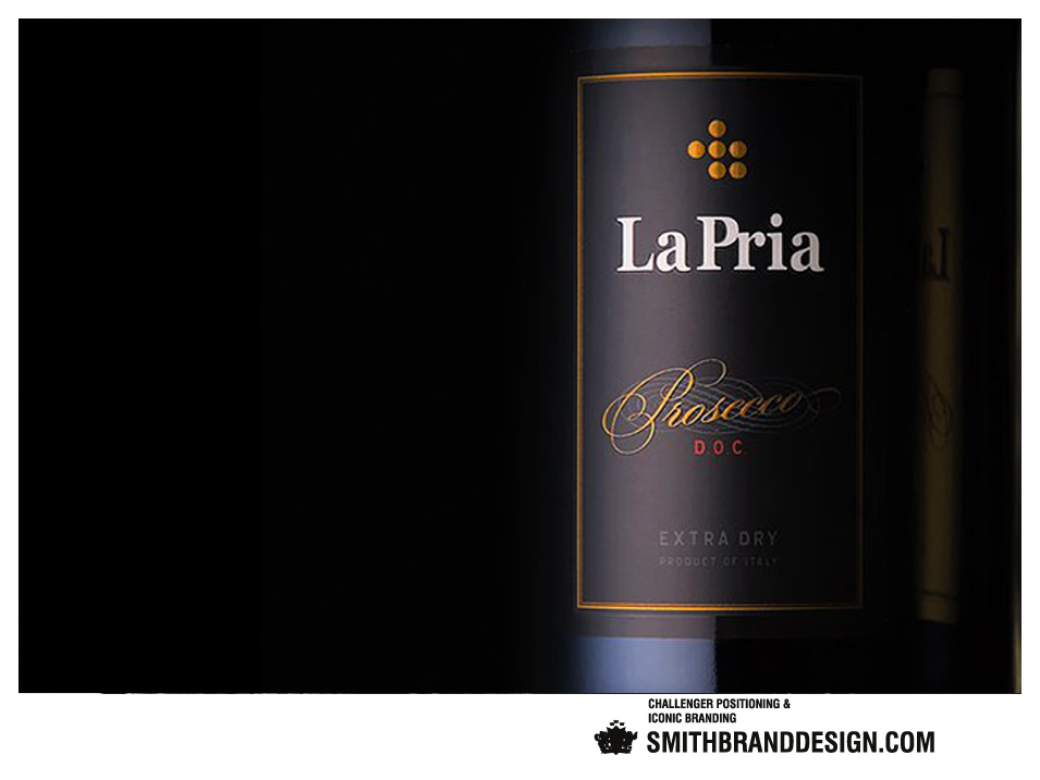 SmithBrandDesign.com La Pria closeup label