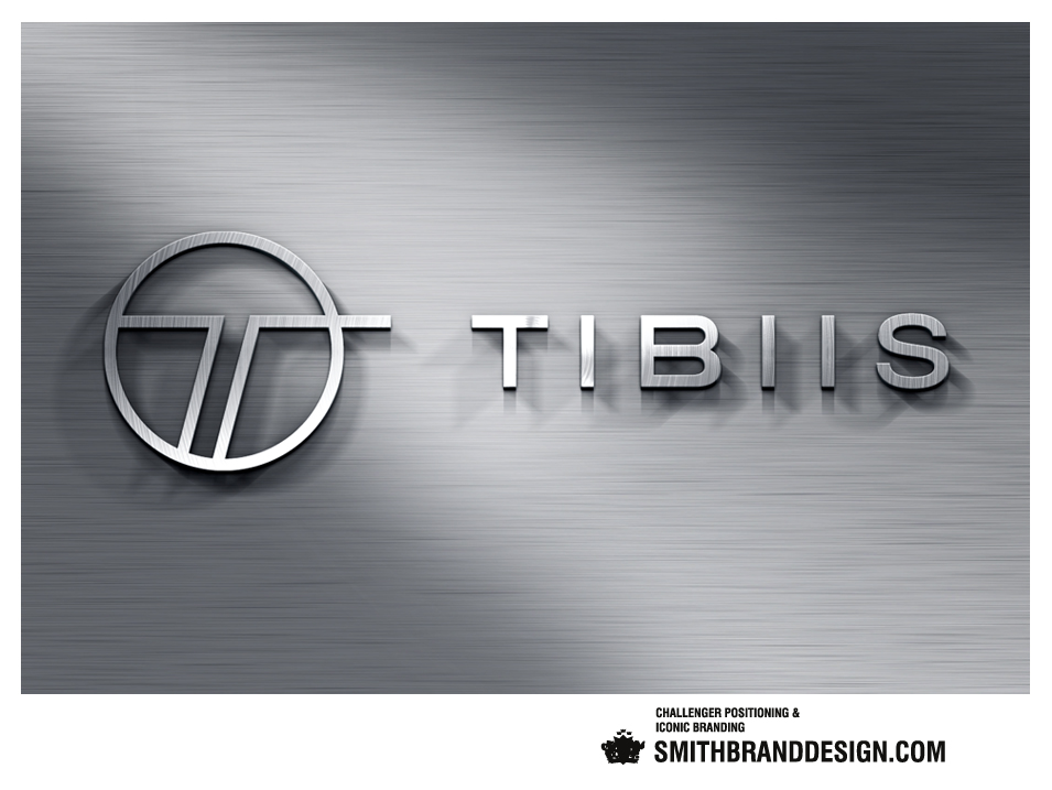 SmithBrandDesign.com Tibiis Brand Wall Brushed Metal