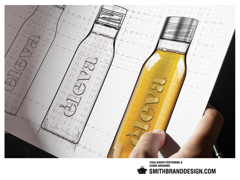 SmithBrandDesign.com Éleva bottle design