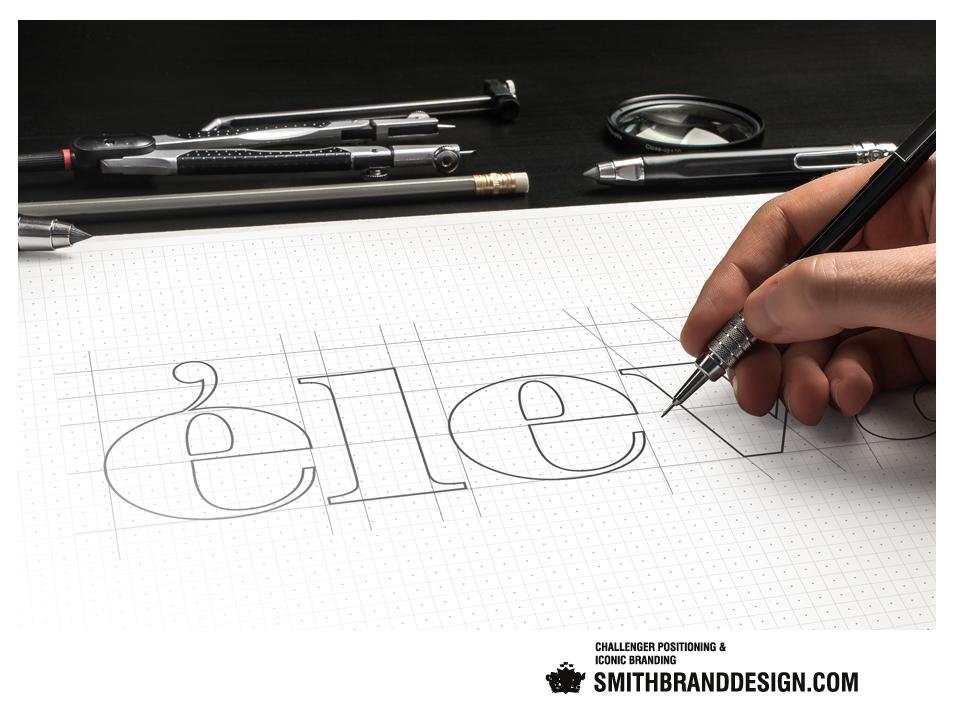 SmithBrandDesign.com Éleva brand sketch