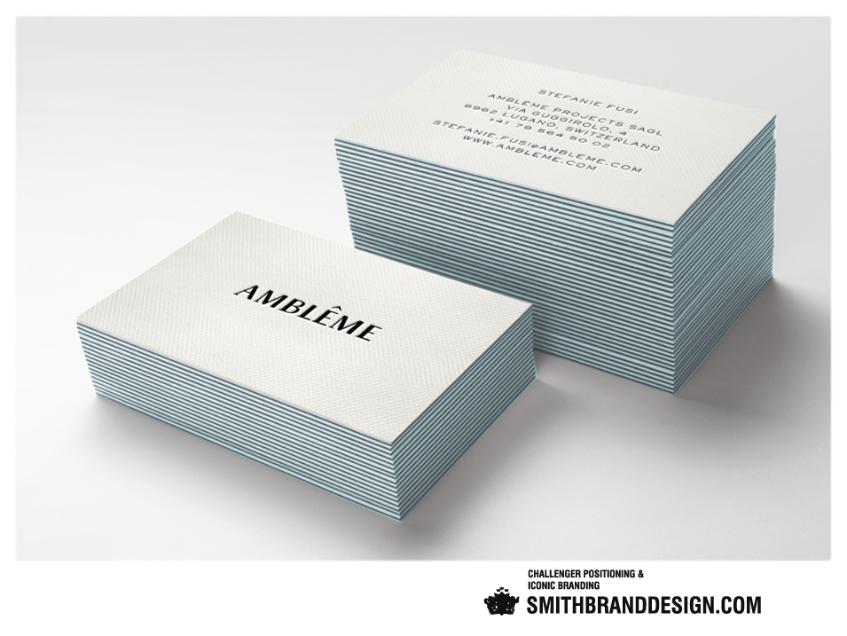 SmithBrandDesign.com Amblême business card