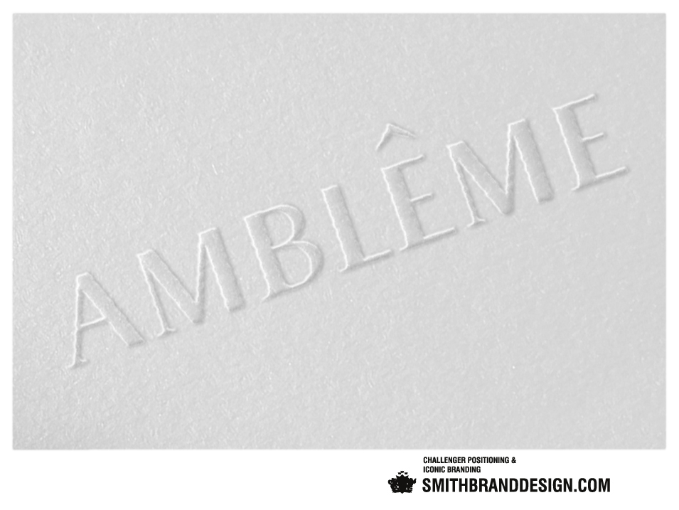SmithBrandDesign.com Amblême embossed card