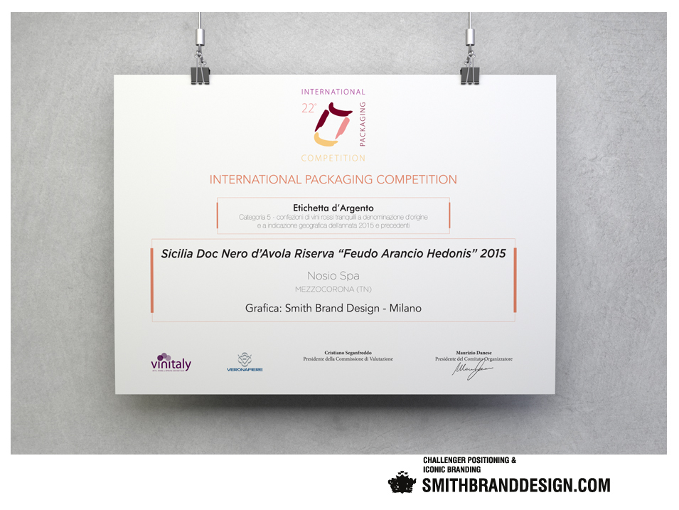 SmithBrandDesign.com Hedonis Vinitialy prize