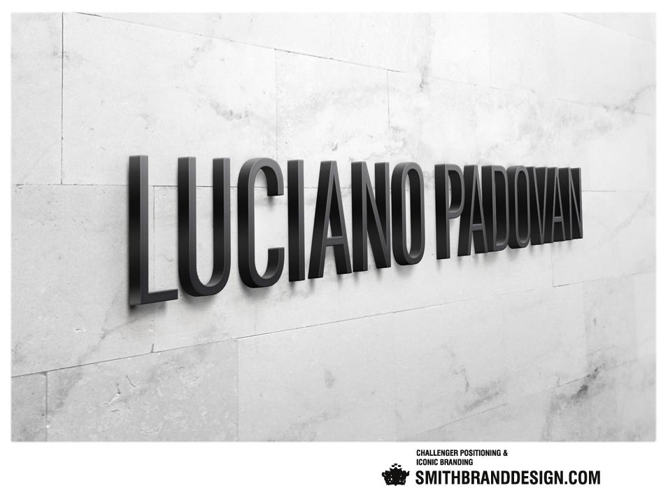 SmithBrandDesign.com Luciano Padova Wall Logo