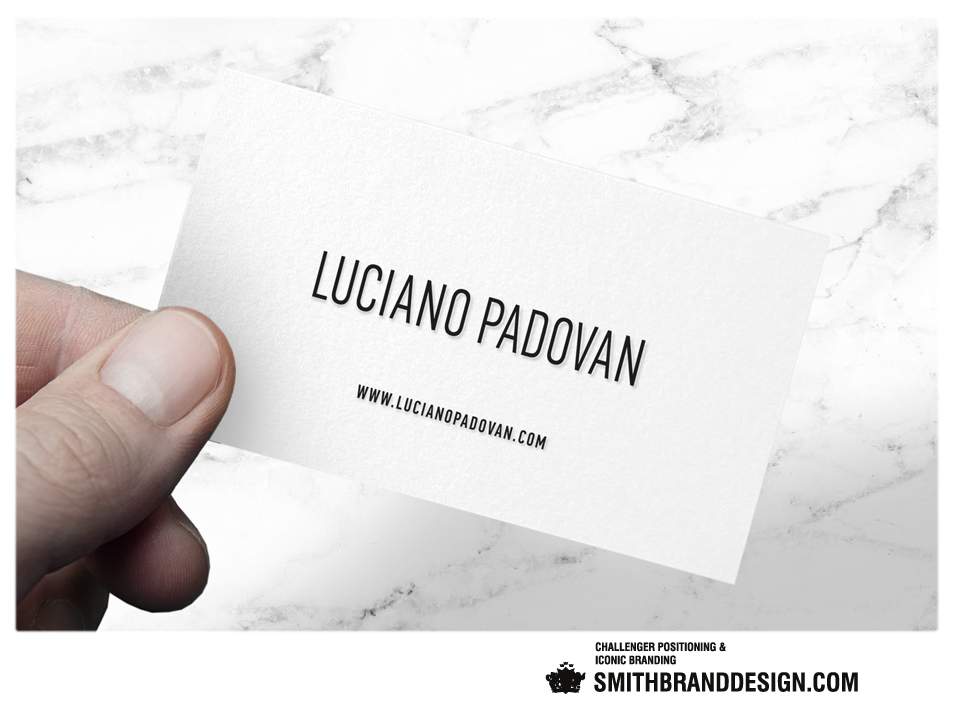 SmithBrandDesign.com Luciano Padovan Businesscard Held