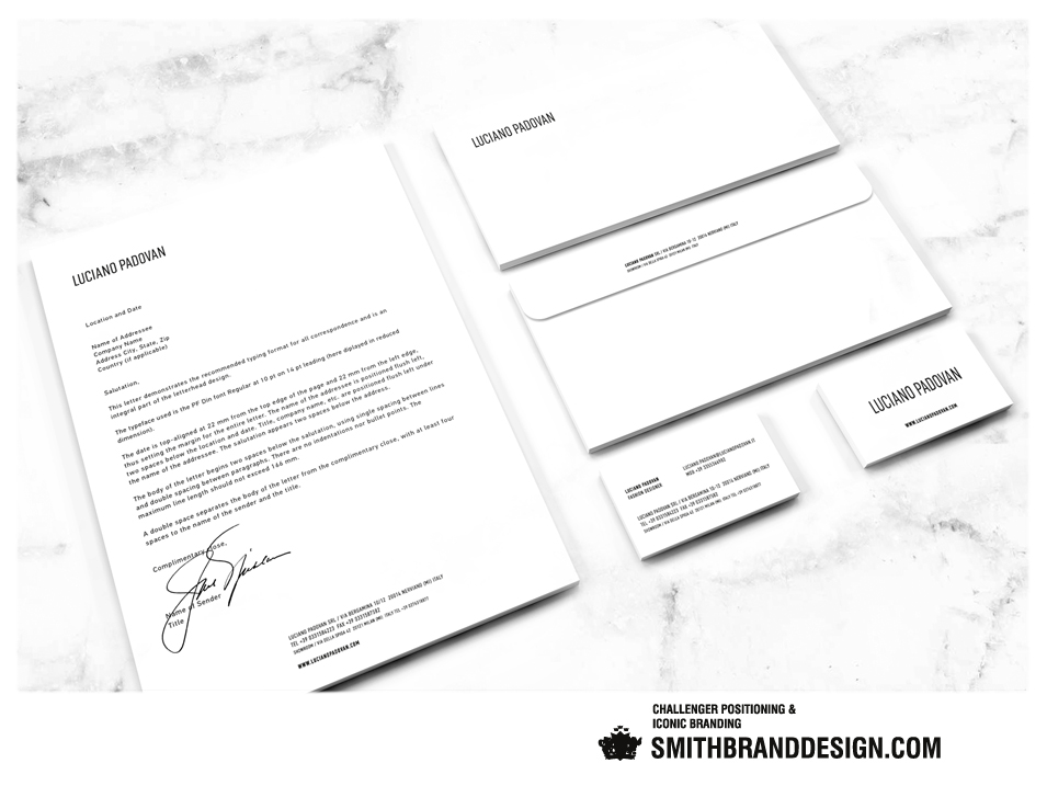SmithBrandDesign.com Luciano Padovan Stationery