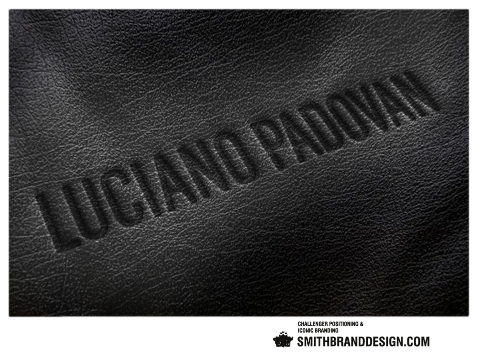 SmithBrandDesign.com Luciano Padovan embossed soft