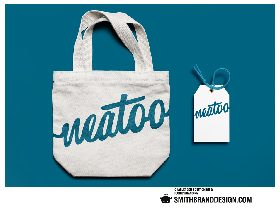 SmithBrandDesign.com Neatoo tote bag hang tag